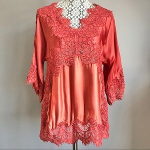 Anthropologie Moulinette Soeurs lace blouse top M